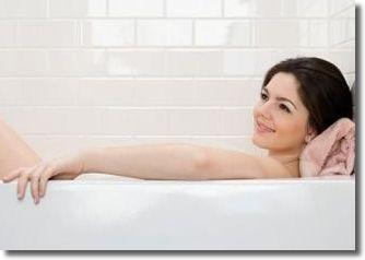 半身浴で脚やせ