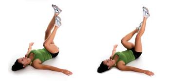太もも痩せエアサイクリング