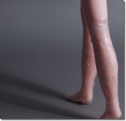 脚やせサランラップの巻き方