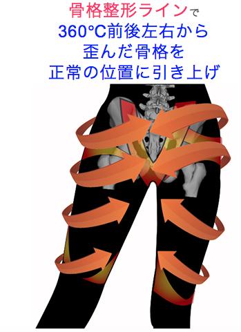 プロフェッショナル スレンダーメイクレギンス骨盤矯正