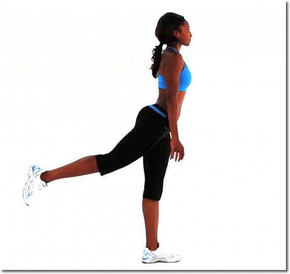 脚の後ろ側全体を引き締める簡単エクササイズやり方
